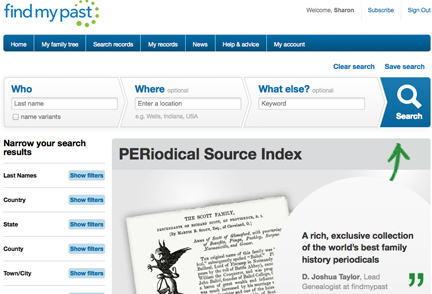 Periodical Source Index (PERSI) and Findmypast