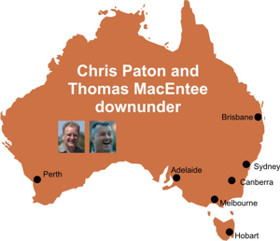 Chris Paton and Thomas MacEntee Downunder Roadshow 1-15 Feb 2014