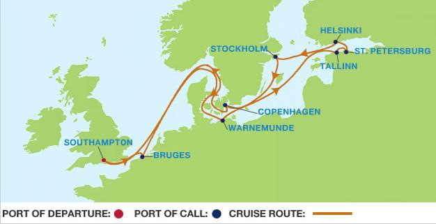 8th cruise map Baltic cruise Genealogy History News