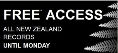 Ancestry's New Zealand's Records FREE Until Monday 19th May