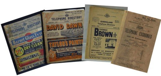 vintage telephone books