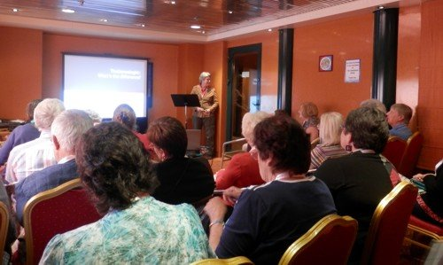 Rosemary Kopittke talking on The Genealogist