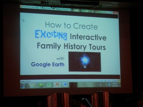 the opening screen on Lisa Louise Cooke's talk on Google Earth
