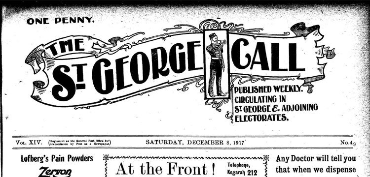Trove - St George Call newspaper