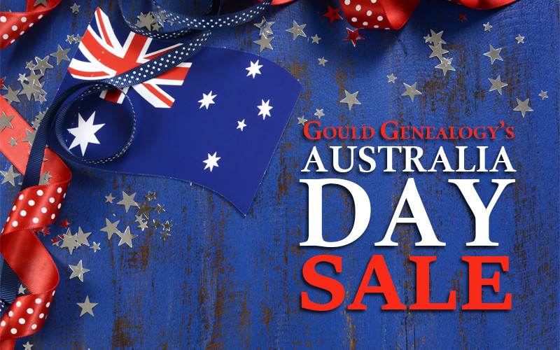 Gould Genealogy's Australia Day Sale