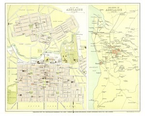 maps of Adelaide and South Australia that appear in the Australian Handbook 1900