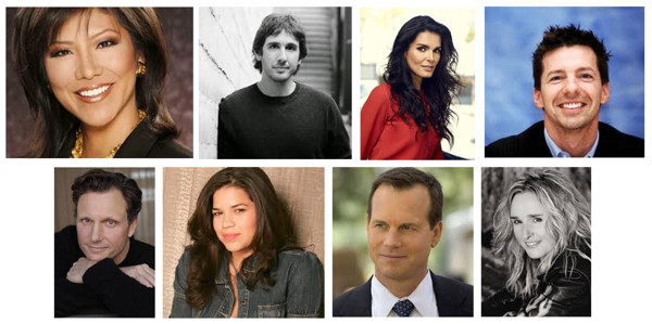 Top L-R: Julie Chen, Josh Groban, Angie Harmon, Sean Hayes Bottom Row L-R: Tony Goldwyn, America Ferrera, Bill Paxton, Melissa Etheridge