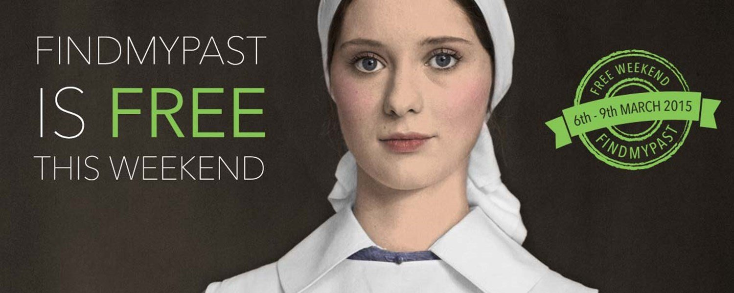 Findmypast – Free This Weekend (6-9 March)