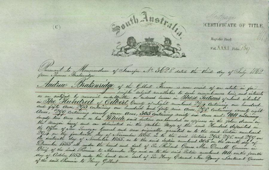 South Australian Land Records – Online AND Free!