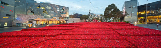 Federation Square, Melbourne, Anzac Day 2015