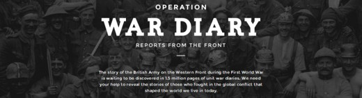 ww1 proejcts - Operation War Diary