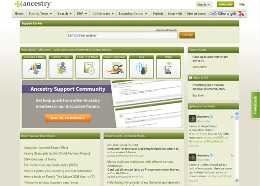Ancestry Knowledge Base