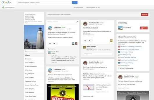 FTM Google+ Community