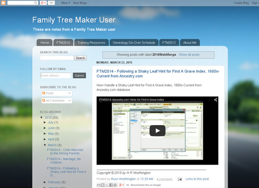 FTM User blog