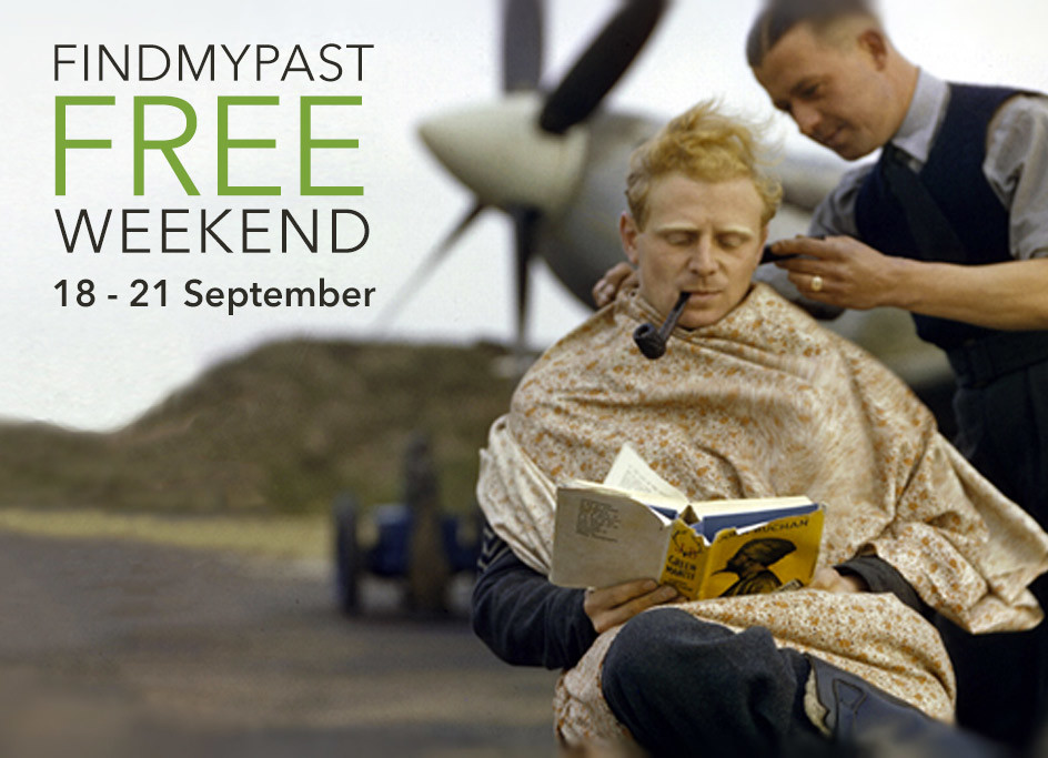Findmypast is FREE All Weekend (18-21 September 2015)!