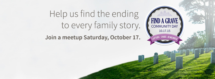 Be a Part of the Find A Grave Community Day 2015