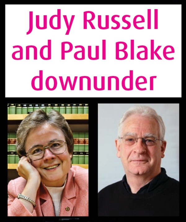 "Book Now for the ""Judy Russell and Paul Blake Downunder"" Tour"