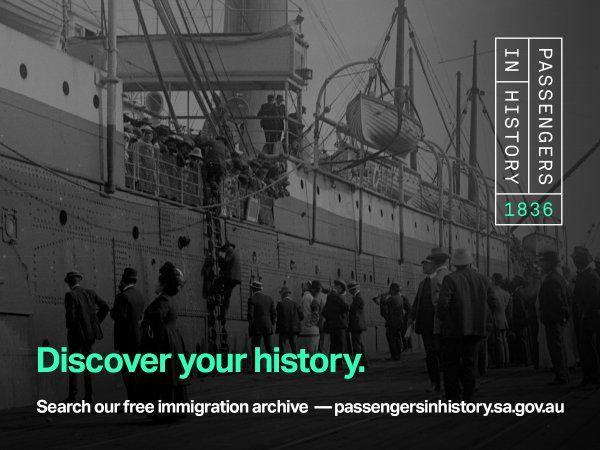 "South Australia's ""Passengers in History"" Website Launched"