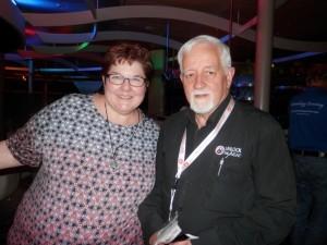 Cyndi Ingle and Alan Phillips, 8th Unlock the Past cruise, July 2015