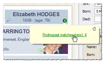 "Family Historian version 6.2 Adds Findmypast ""Hints"""
