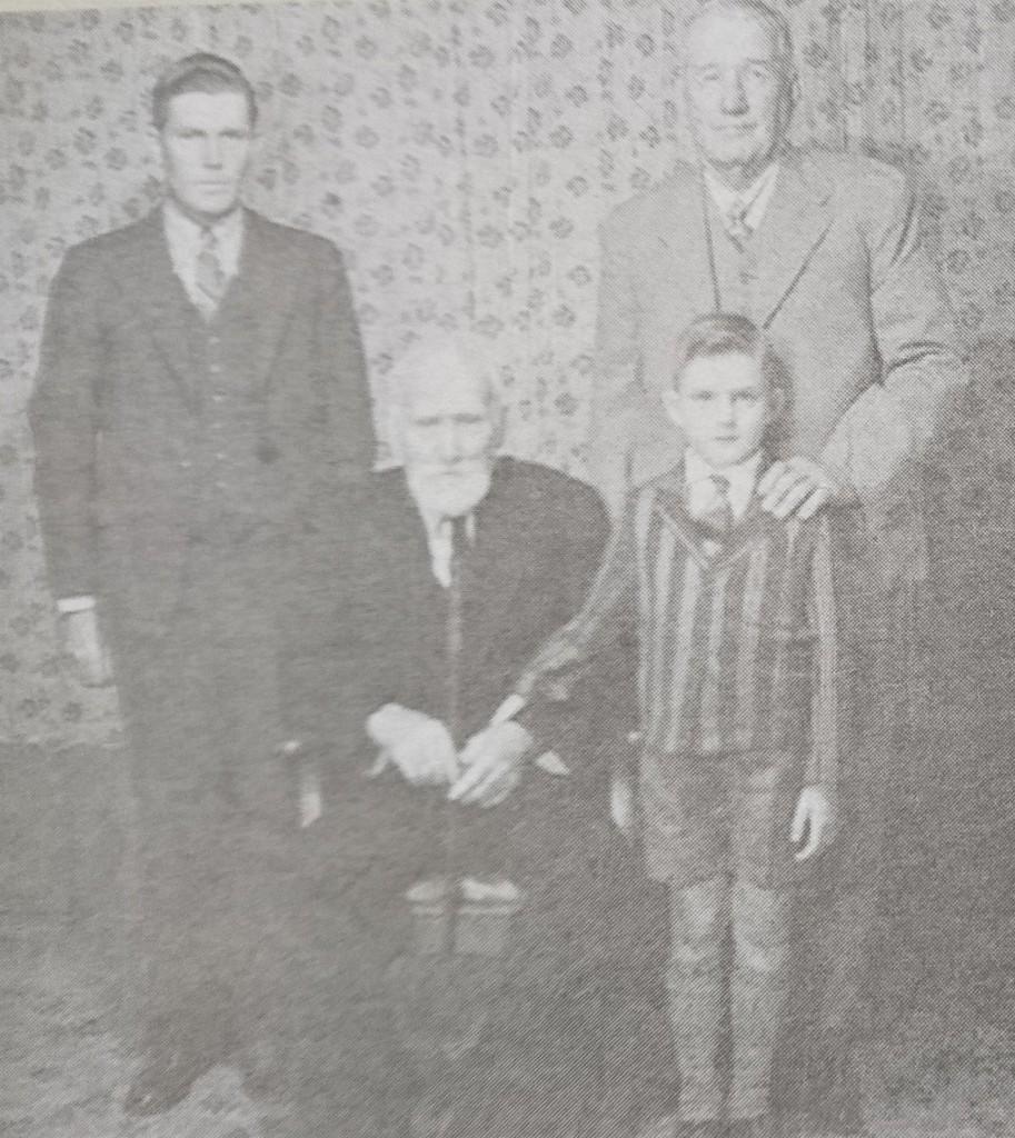 Pictures in 1939 in Bowen James Lott Gordon, James Gordon (seated), James Gordon and William (Bill) Gordon