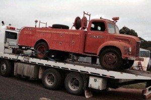 one of Toowoomba's original fire trucks