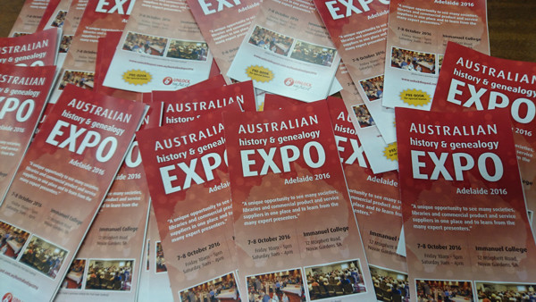 Pile of Australian Expo Brochures
