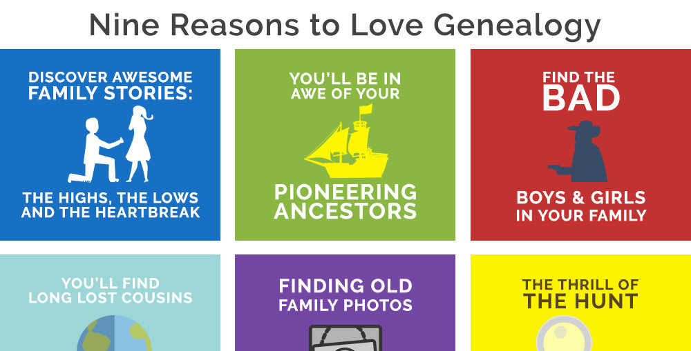 9 Reasons to Love Genealogy [INFOGRAPHIC]