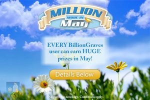 BillionGraves Million More in May
