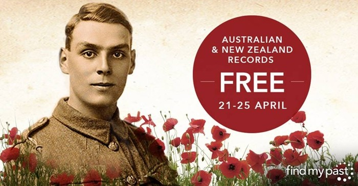 All Australian and New Zealand Records on Findmypast, FREE 21-25 April