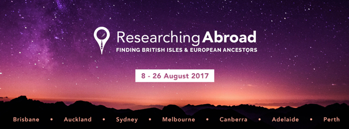 "Unlock the Past's ""Researching Abroad Roadshow"" BOOK NOW"