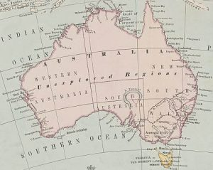 old map of Australia, 1863