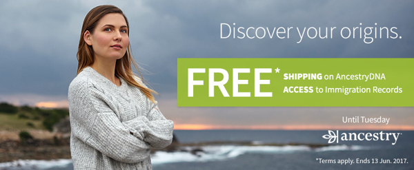 Special Offers From Ancestry.com.au, 9-13 June 2017