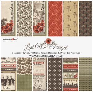 Feature Art 12x12 Lest We Forget Kit