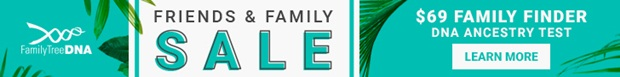 Family Tree DNA Family Finder wide banner