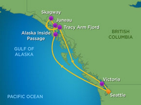 14th Unlock the Past cruise map Alaska