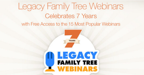 Free Access to 15 Most Popular Legacy Family Tree Webinars