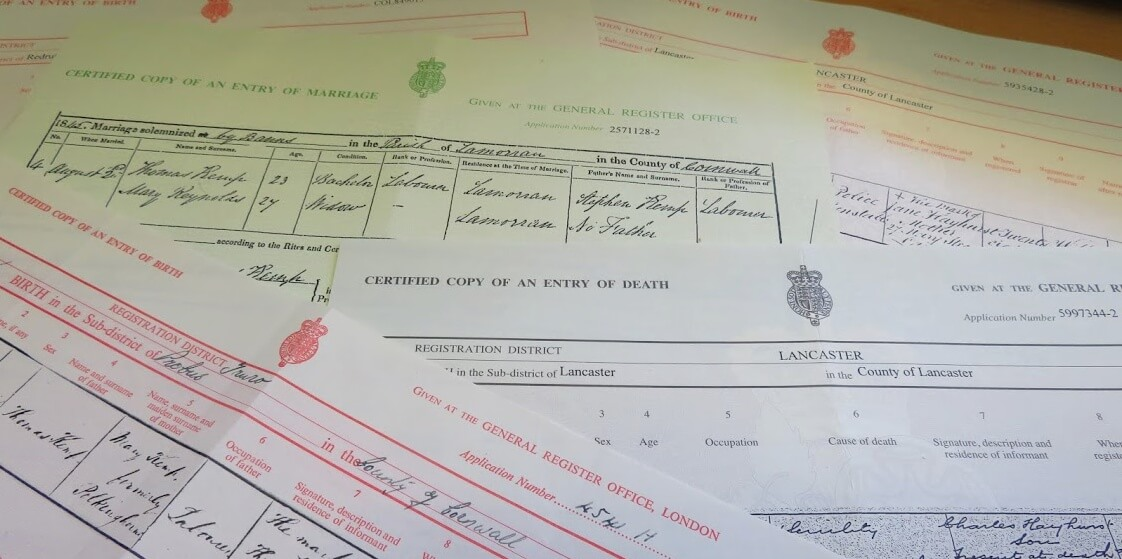 Download English and Welsh Birth and Death Certificates