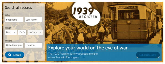 Findmypast.co.uk Introduces New Subscription Packages