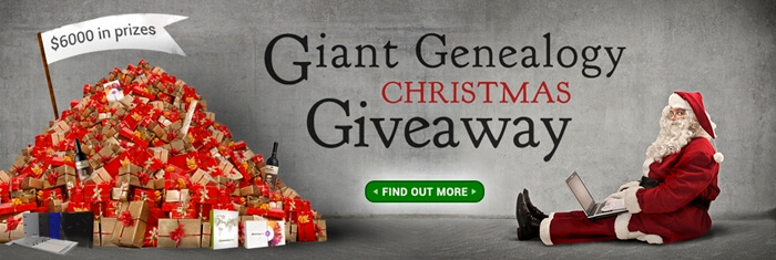 Giant Genealogy Christmas Giveaway – The Winners
