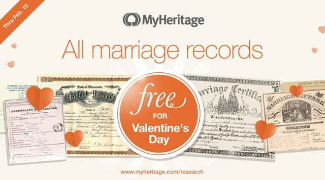 Free Access to Marriage Records from Around the World