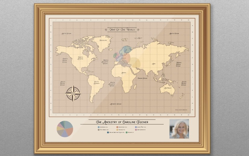 Display Your Personalised Family History DNA Chart