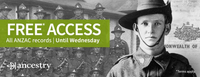 Australian & New Zealand Military Records FREE on Ancestry
