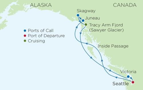Map Alaska cruise - Genealogy & History News