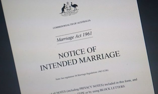 Proposed Changes to Australian Marriage Certificates will Affect Family Historians