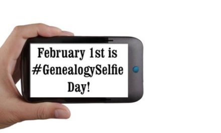 #GenealogySelfie Day, 1 February 2019