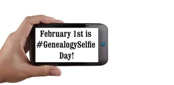 #GenealogySelfie Day, 1 February 2019