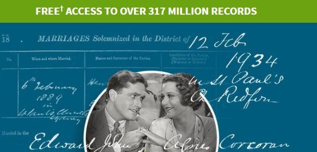 Search Millions of Marriage Records on Ancestry FREE (14-17 February)