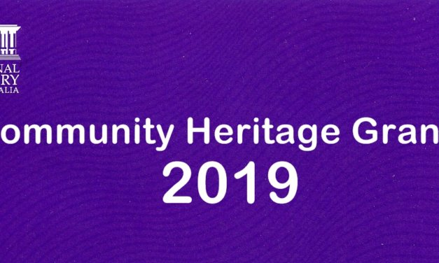 Applications for the National Library of Australia's 2019 Community Heritage Grants Are Open