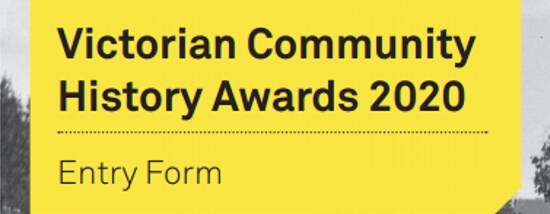 Applications for the Victorian Community History Awards 2020 Are Now Open